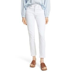 Vince Skinny Crop Optic White Jeans